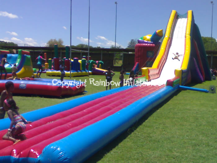 Giant inflatable water slides 10m or 12m renting or manufacturers south africa - The giant slide apartament ...